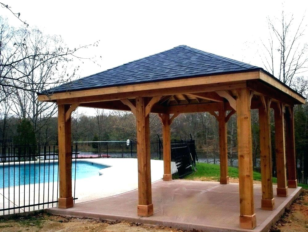 Image of: Backyard Free Patio Cover Blueprints