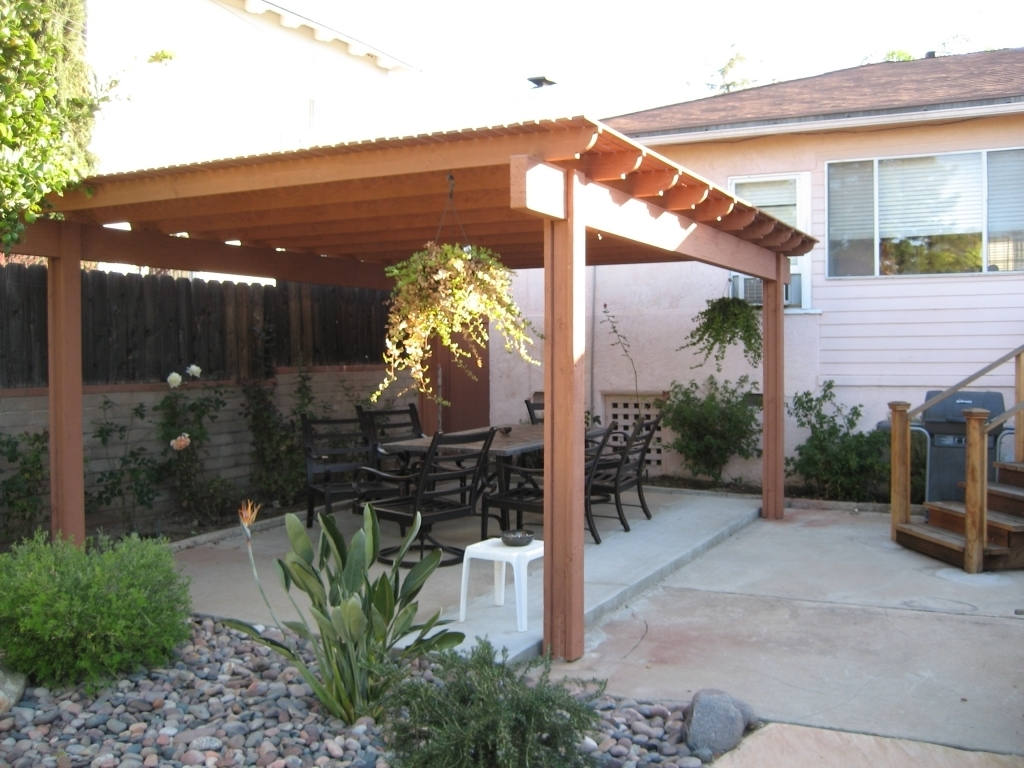 Image of: Backyard Patio Cover Design