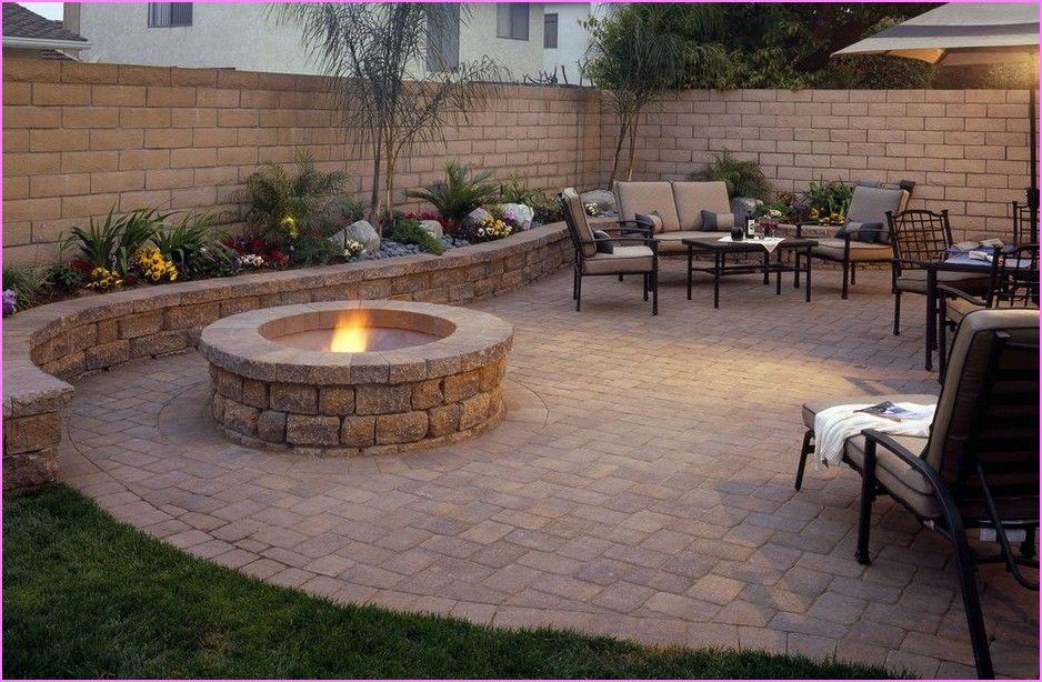 Image of: Backyard Patio Design Ideas Firepit