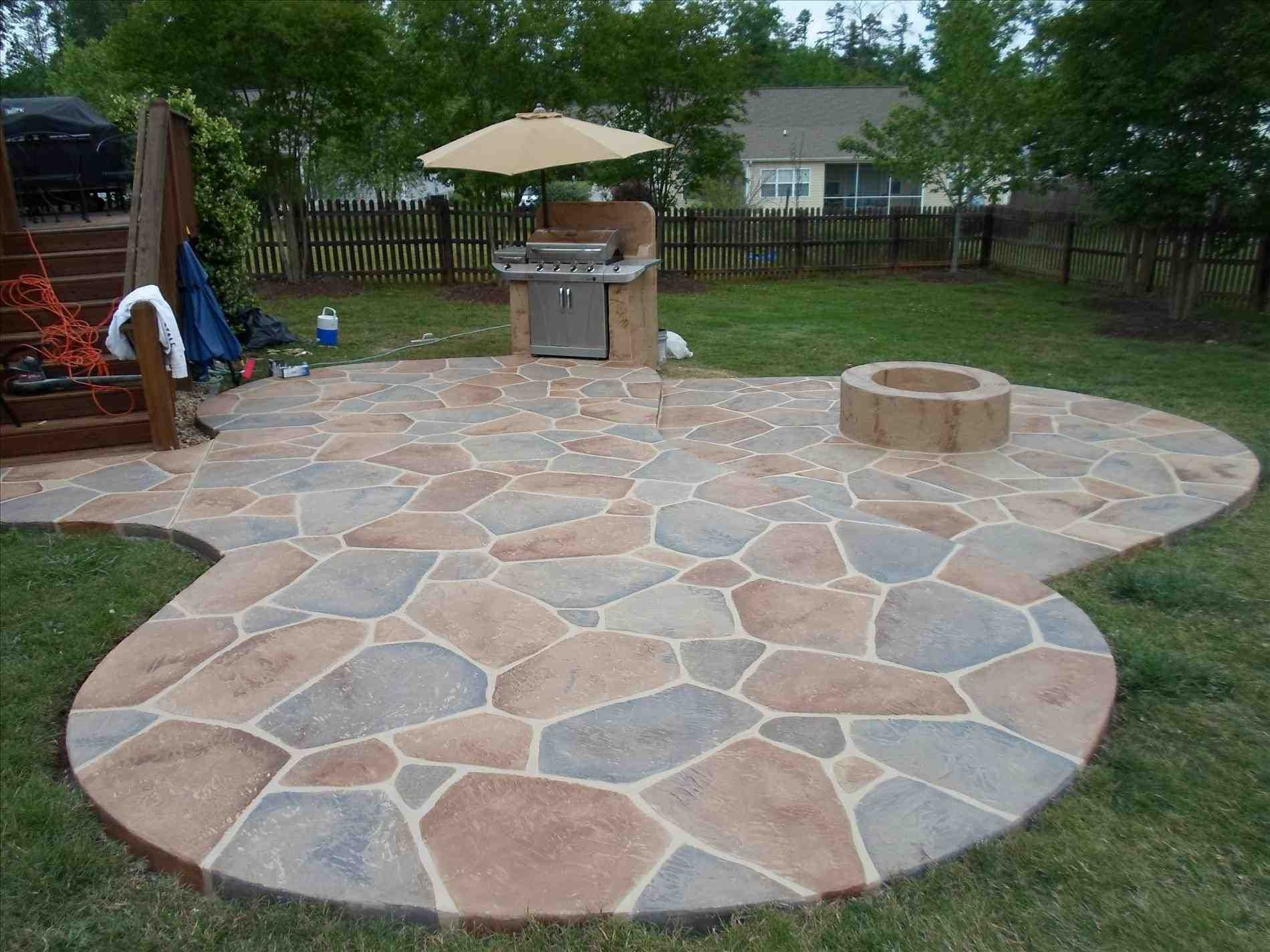 Image of: Backyard Stamped Concrete Patio Ideas On A Budget