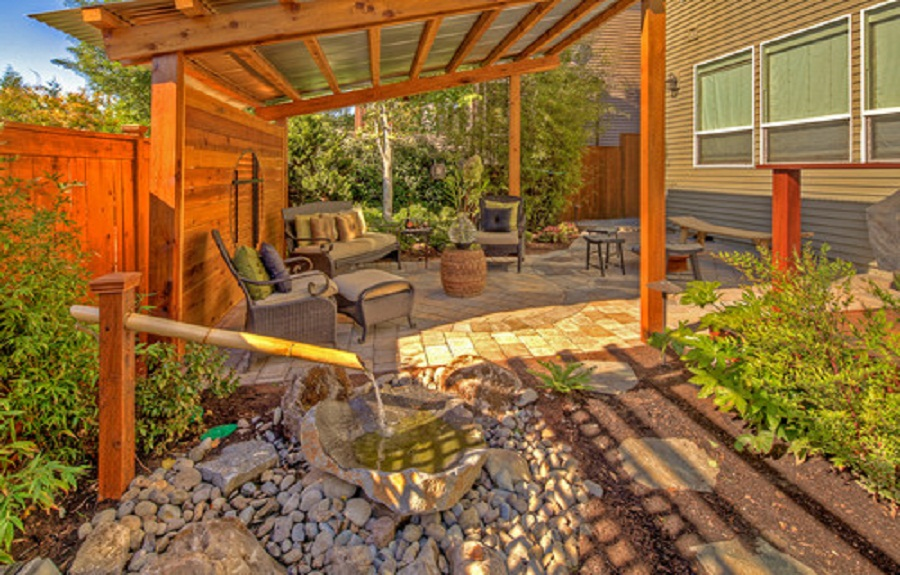 Image of: Backyard Wood Patio Cover Designs