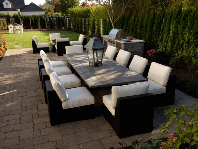 Image of: Bbq Patio Ideas around Conservatory