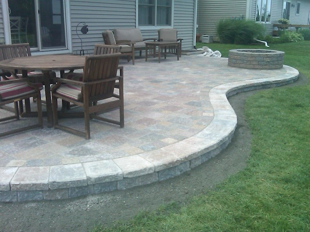 Image of: Best Backyard Paver Patio Ideas with Firepit