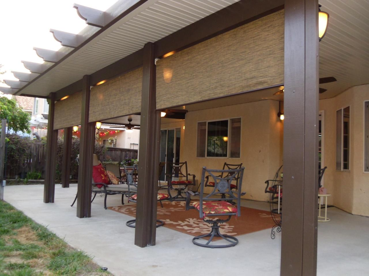 Image of: Build Aluminum Wood Patio Cover