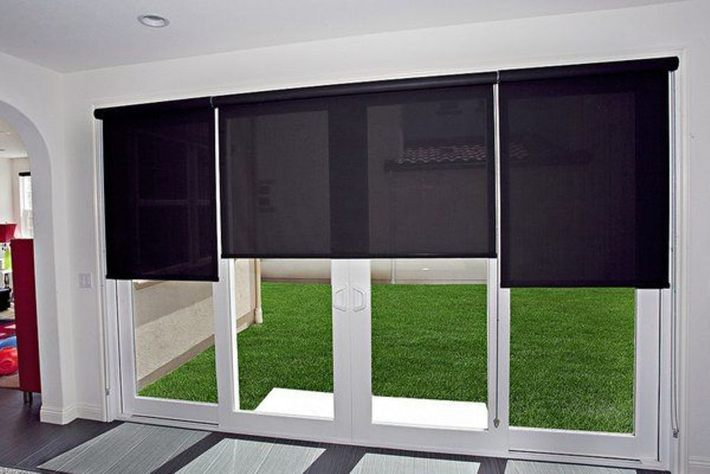 Image of: Built In Blinds For Patio Doors Ideas