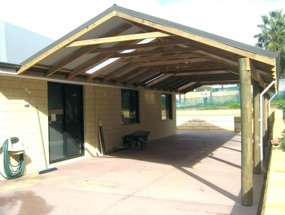 Image of: Car Detached Patio Cover Plans