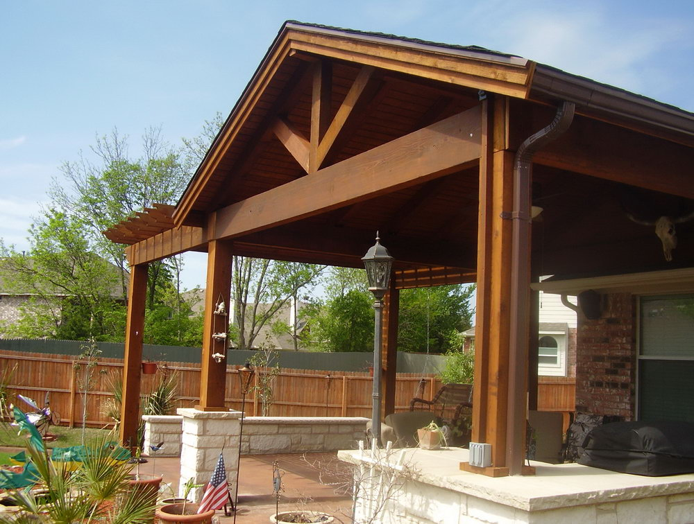 Image of: Cedar Patio Cover Ideas