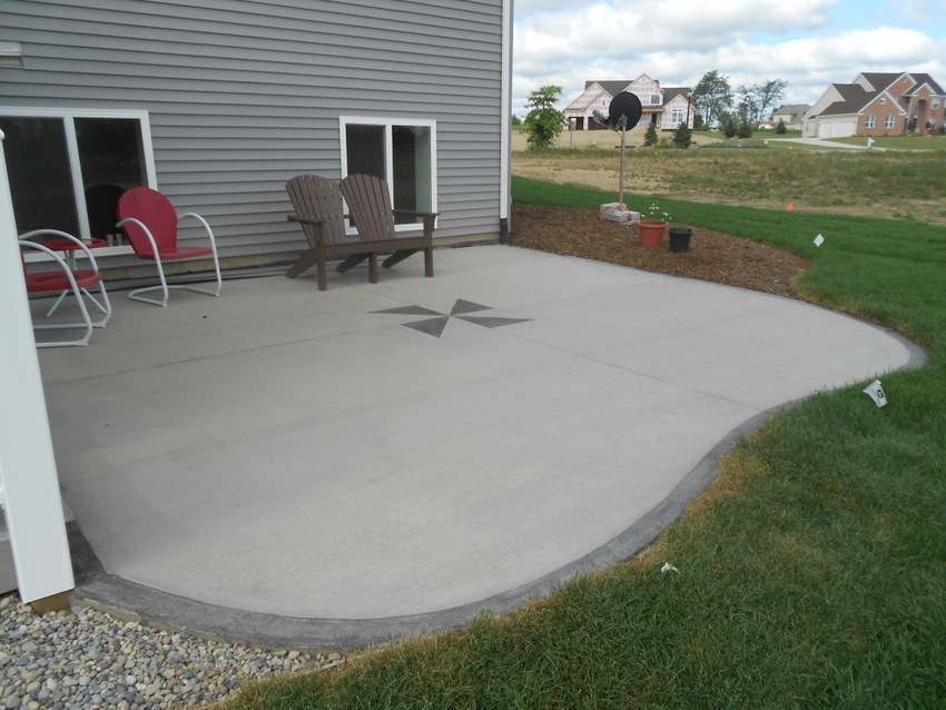 Image of: Concrete Patio Design Ideas Gray