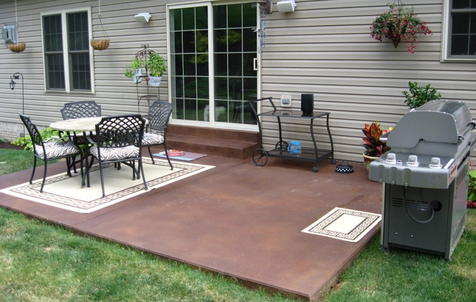 Image of: Concrete Patio Design Ideas Small