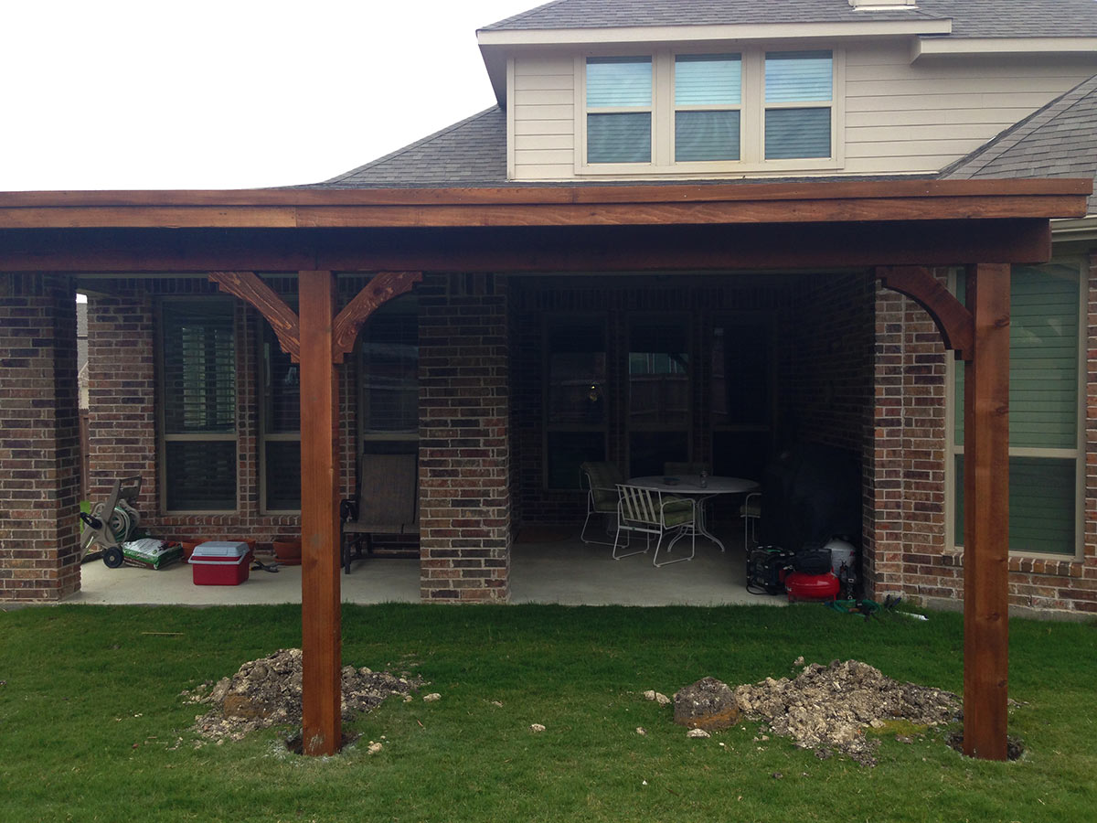 Image of: Custom Build Patio Cover Plans