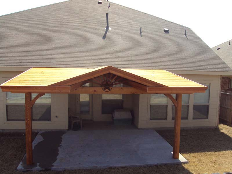 Image of: DIY Attached Patio Cover