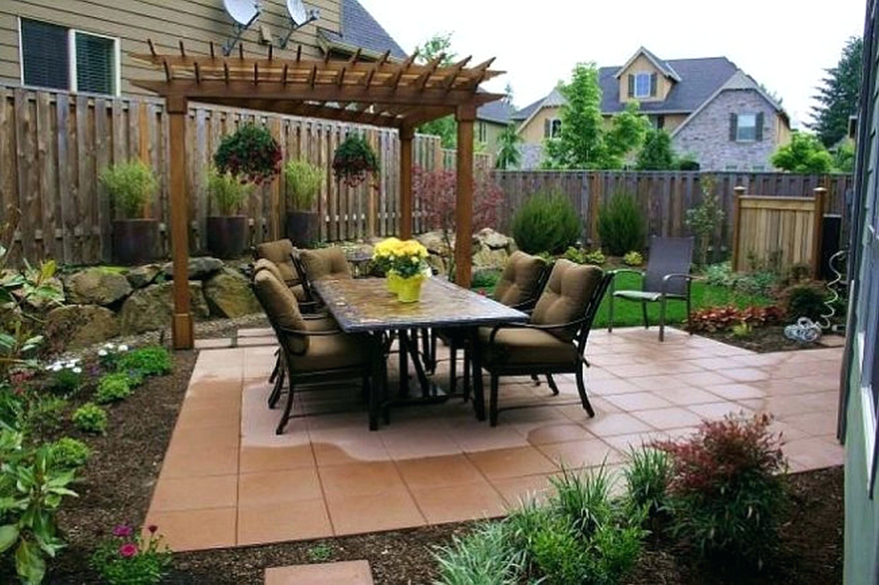 Image of: small front patio ideas Fresh Patio Ideas Front Yard Patio Designs Small Front Yard Patio