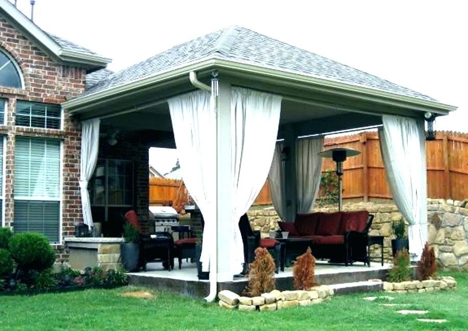 Image of: Elegant Build Patio Cover Plans