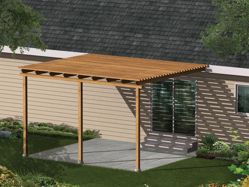 Image of: Free Patio Cover Blueprints Software