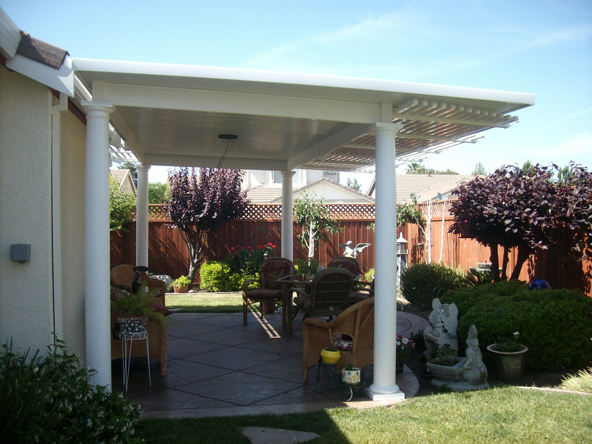 Image of: Great Vinyl Patio Cover