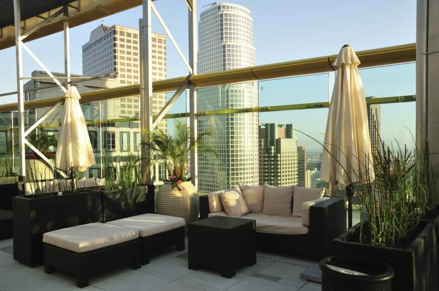 Image of: Hotel Rooftop Patio Ideas