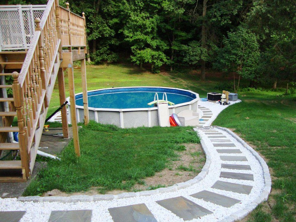 Image of: Image Above Ground Pool Patio Ideas
