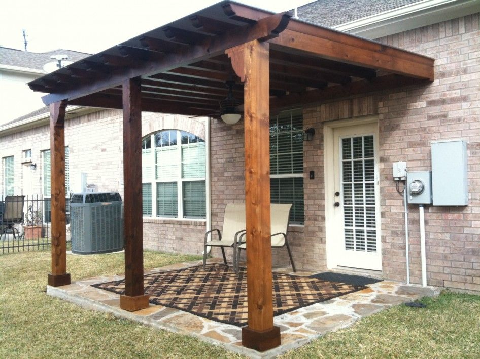 Image of: Inspiring Wood Patio Cover Designs