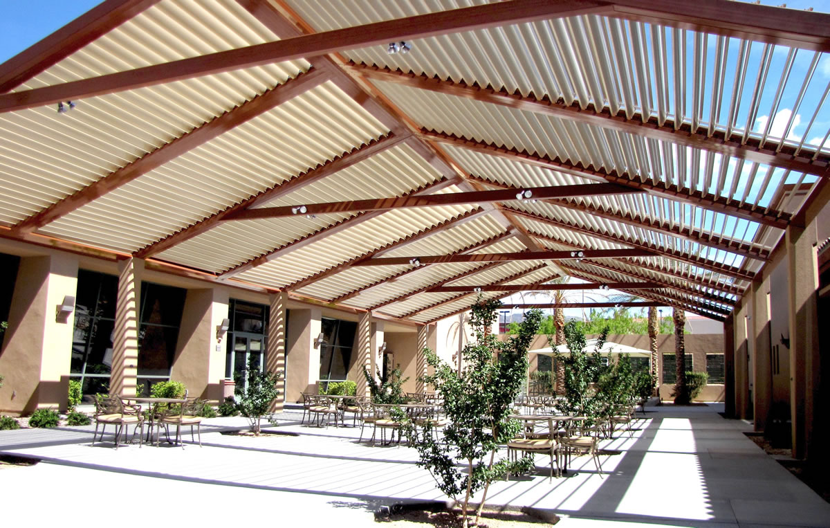 Image of: Large Louvered Patio Cover