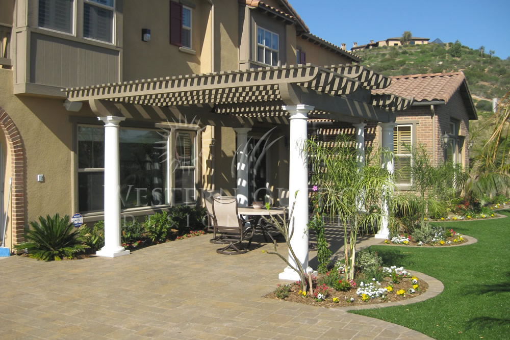 Image of: Latice Patio Cover Design