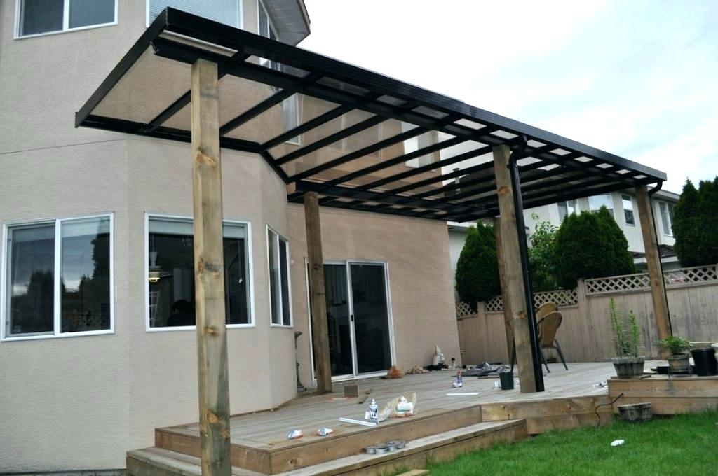 Image of: Lean to Patio Cover Black