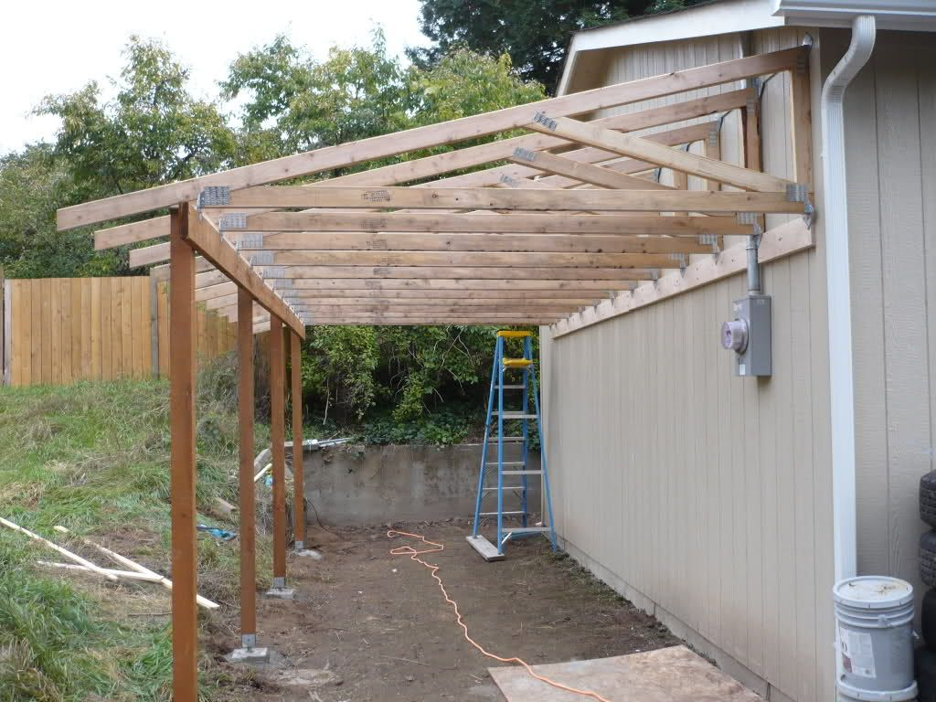 Image of: Lean to Patio Cover DIY
