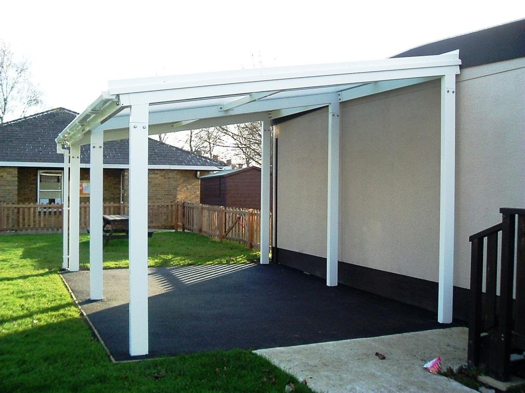 Image of: Lean to Patio Cover White