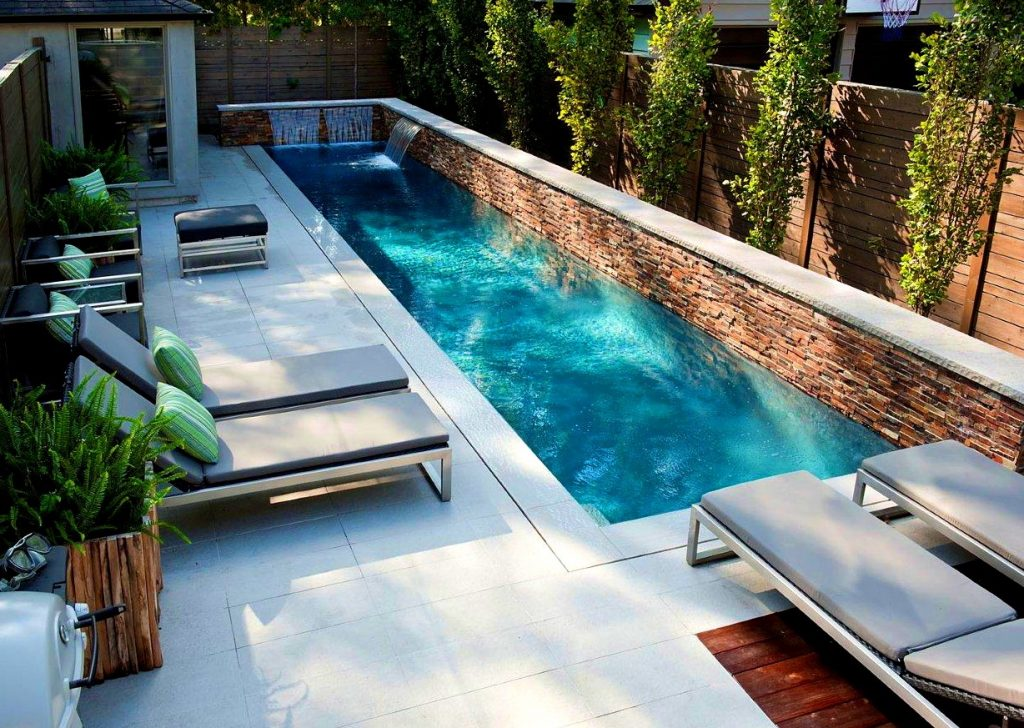 Image of: Long Pool And Patio Ideas