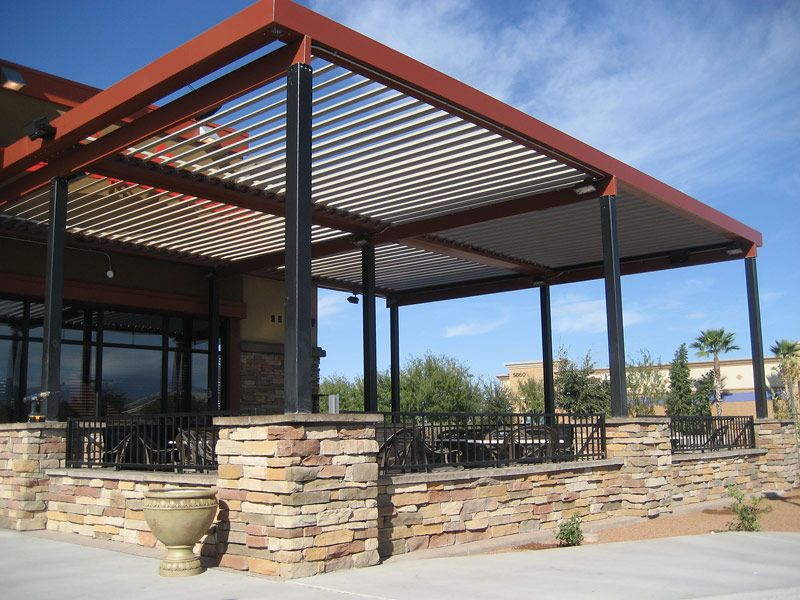 Image of: Louvered Patio Cover Size