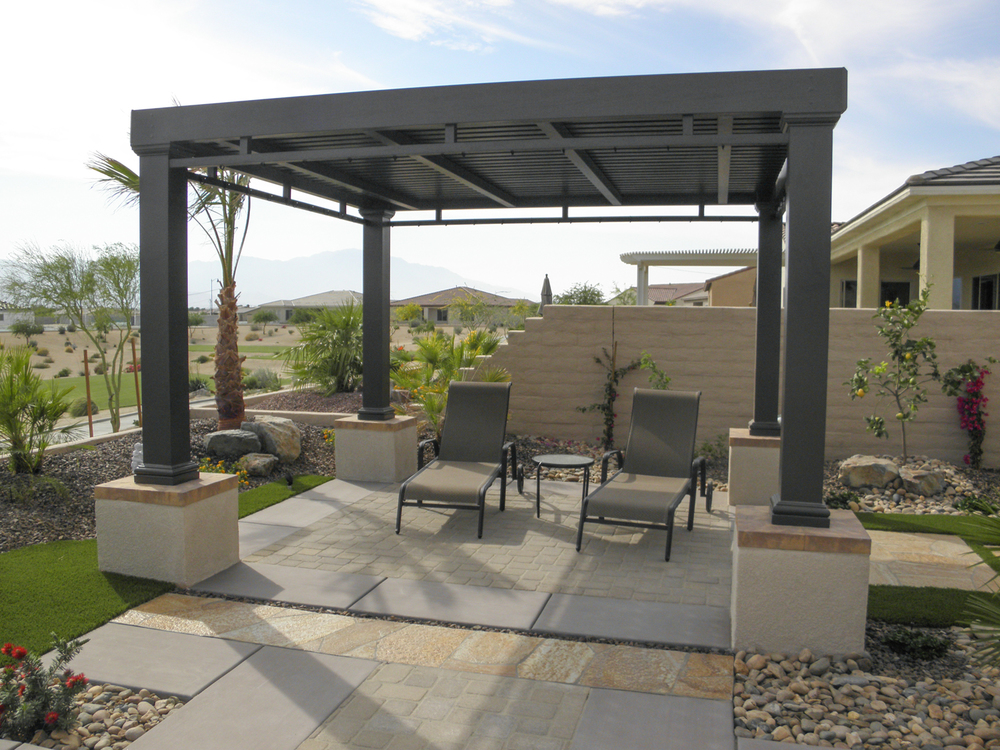 Modern Aluminum Wood Patio Cover