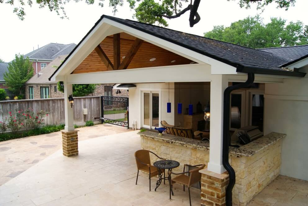 Image of: Open Gable with Detached Patio Cover Plans
