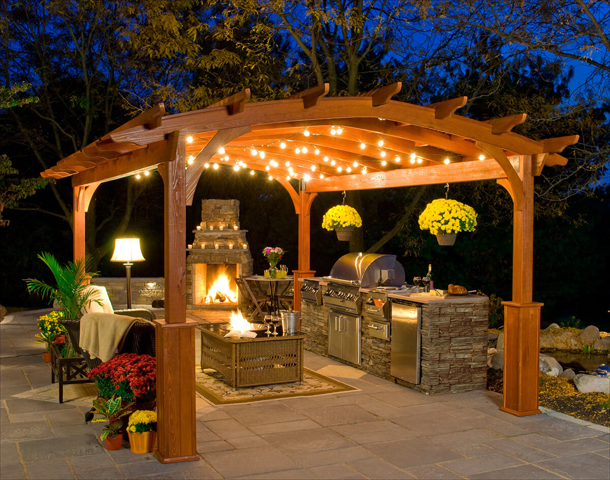 Image of: Outdoor Patio Kitchen Ideas Photo Gallery