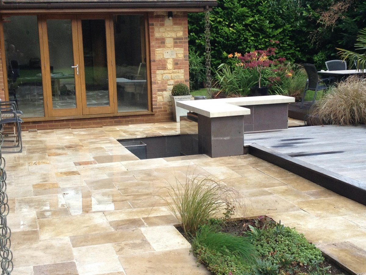 Image of: Painted Patio Slab Ideas