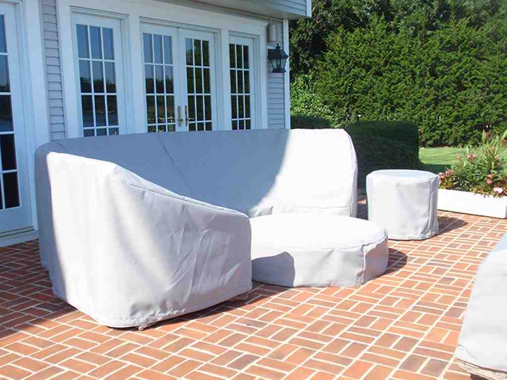 Image of: Patio Couch Cover White