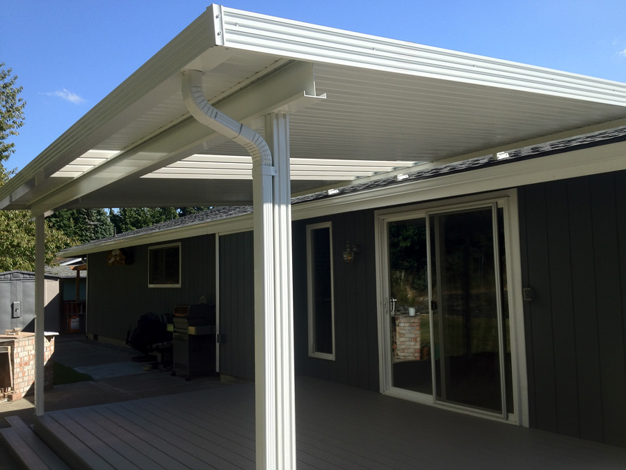Image of: Patio Cover Material Aluminium