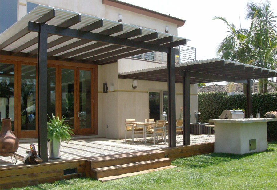Image of: Patio Cover Material Style