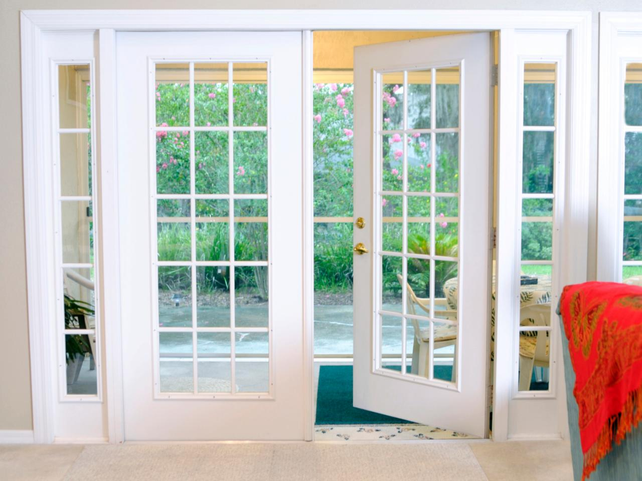 Image of: Patio Door Ideas Double