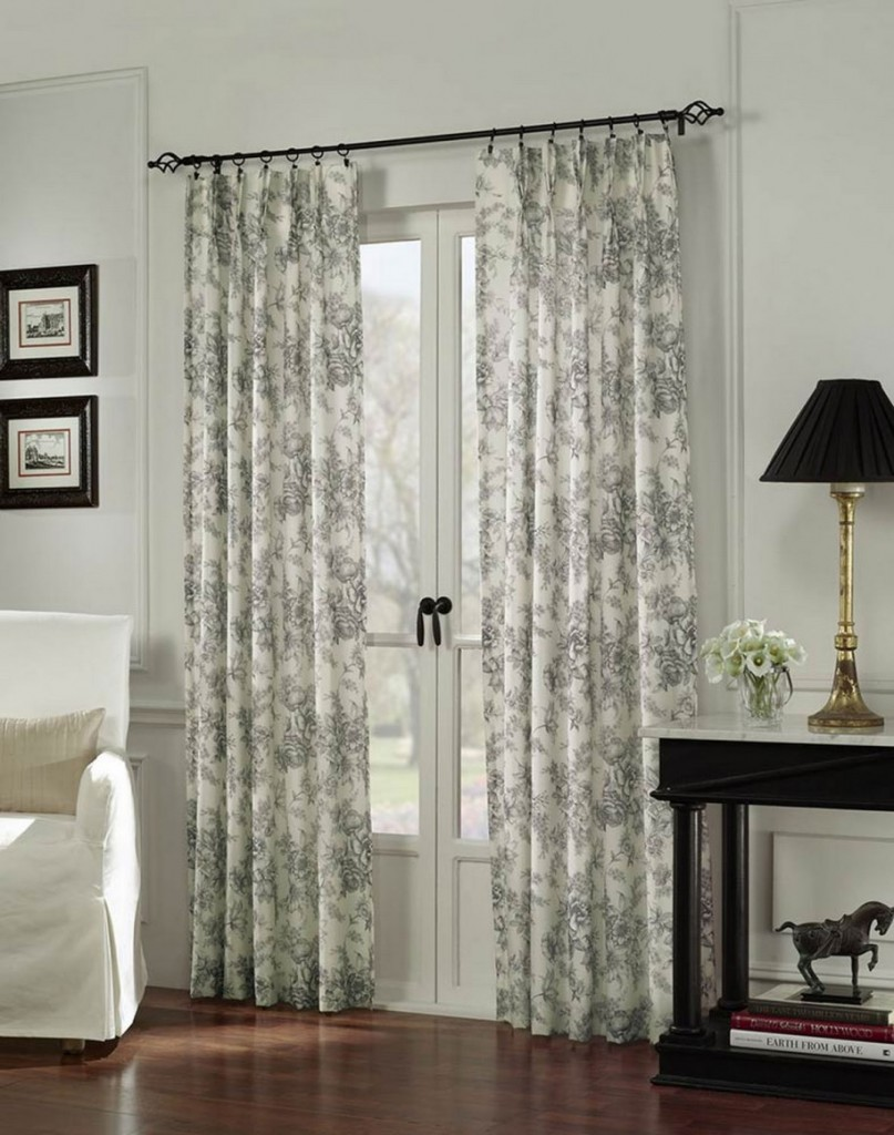 Image of: Patio Door Window Treatment Ideas Pattern