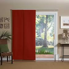 Image of: Patio Door Window Treatment Ideas Red