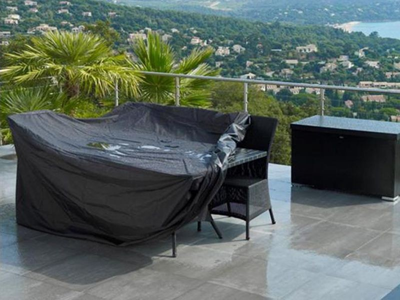 Image of: Patio Furniture Cover Black