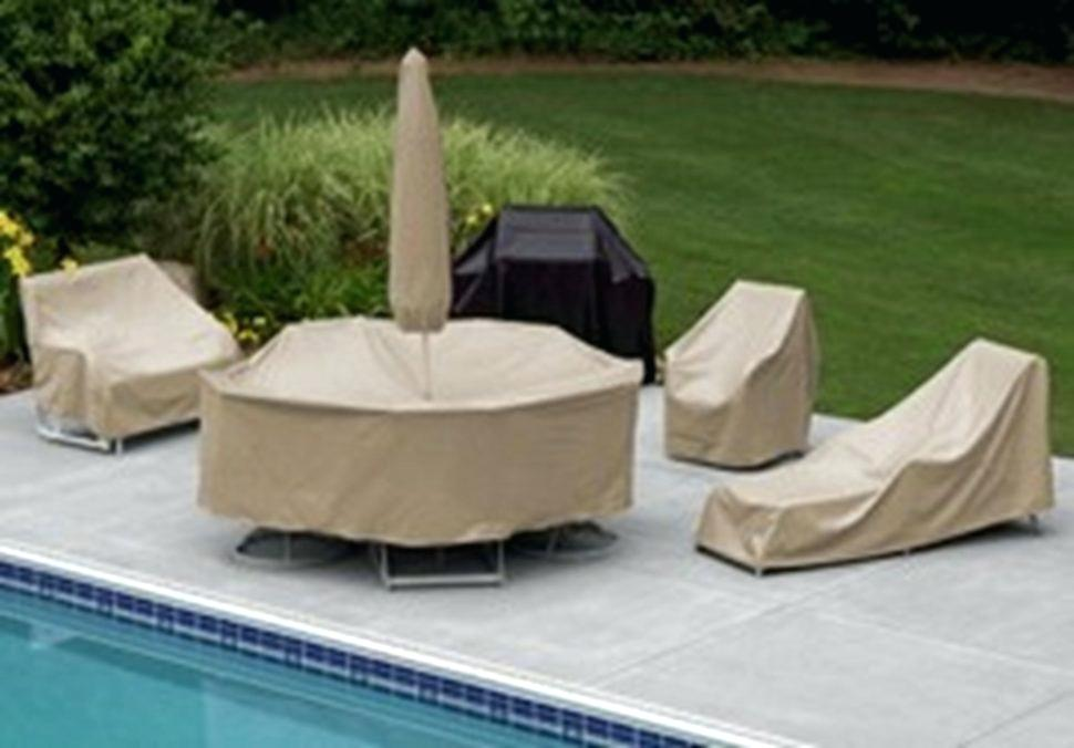 Image of: Patio Furniture Cover Pool
