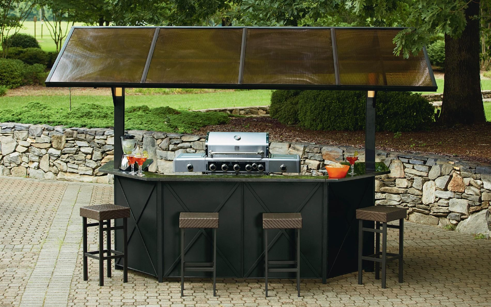 Image of: Patio Grill Ideas Metal