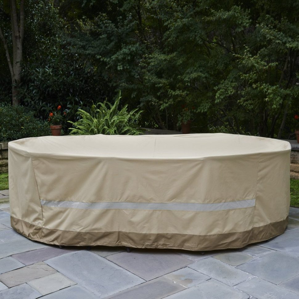 Image of: Patio Table Cover Long