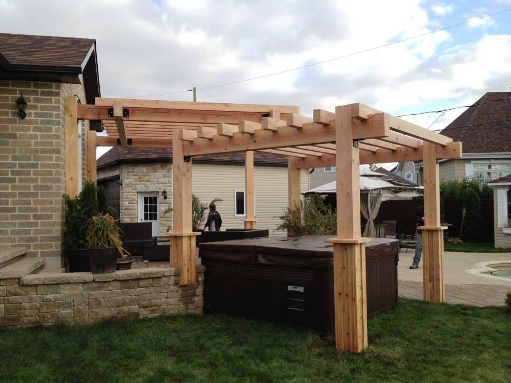Image of: Pergola Covered Patio Lighting Ideas