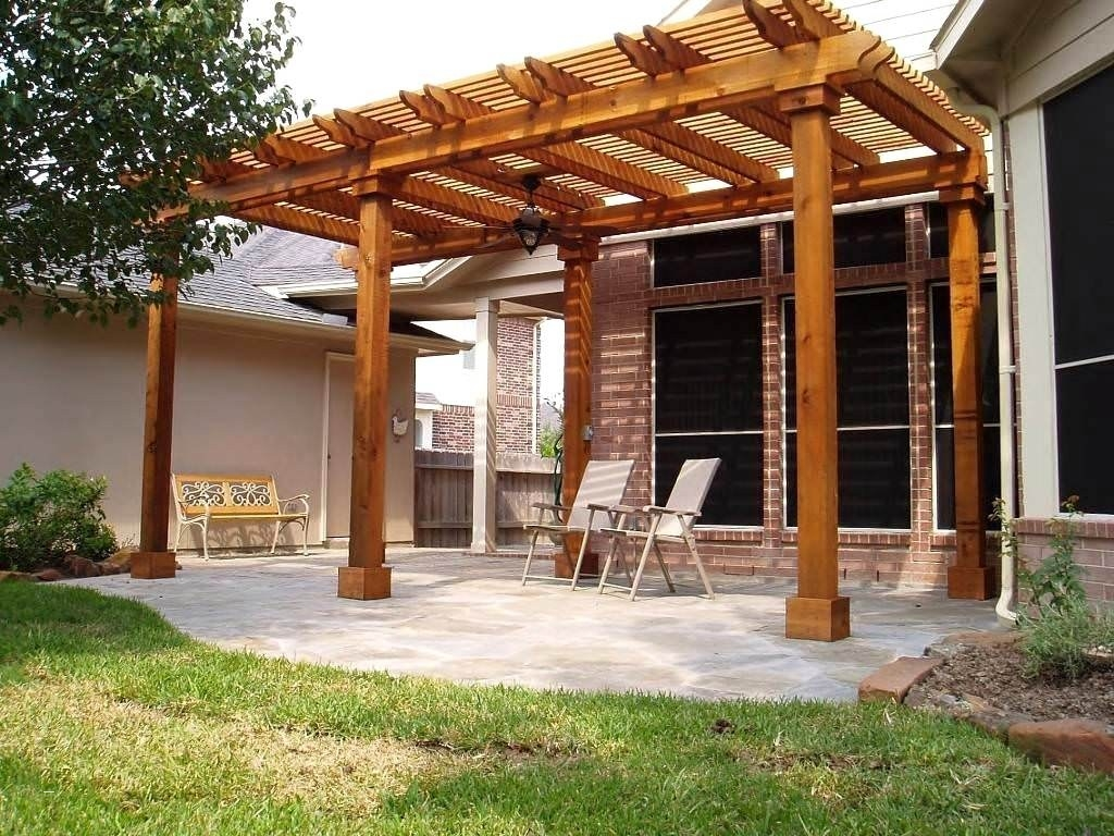Image of: Pergola Free Patio Cover Blueprints