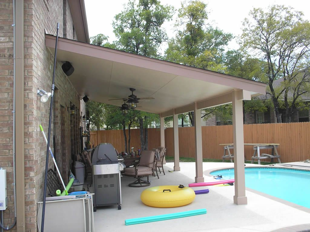 Pool Aluminum Wood Patio Cover