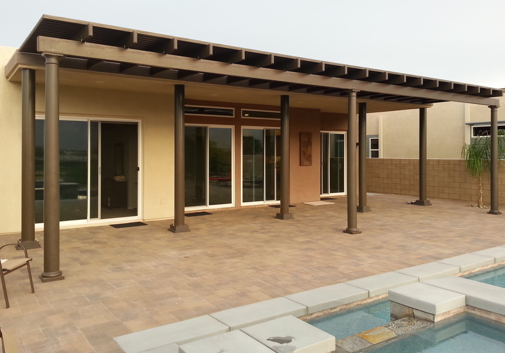 Image of: Pool Patio Cover Material