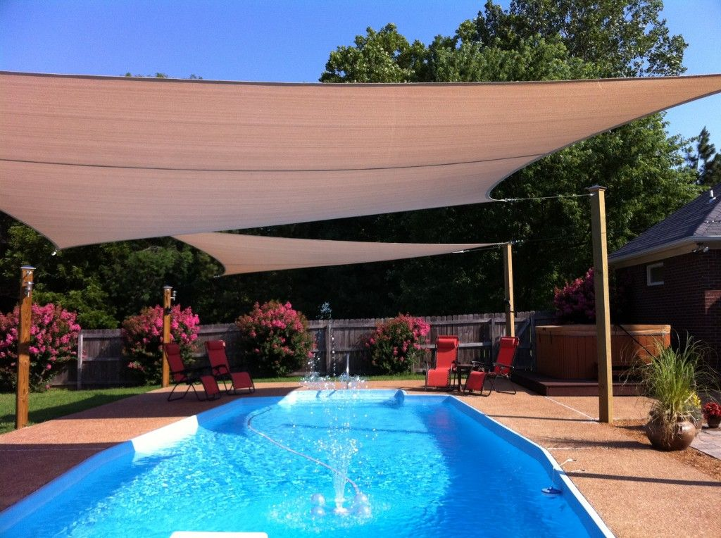 Image of: Pool Sun Shade Patio Cover
