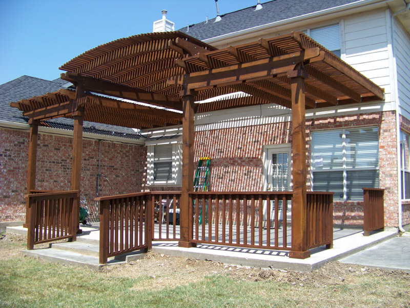 Red Wood Patio Cover