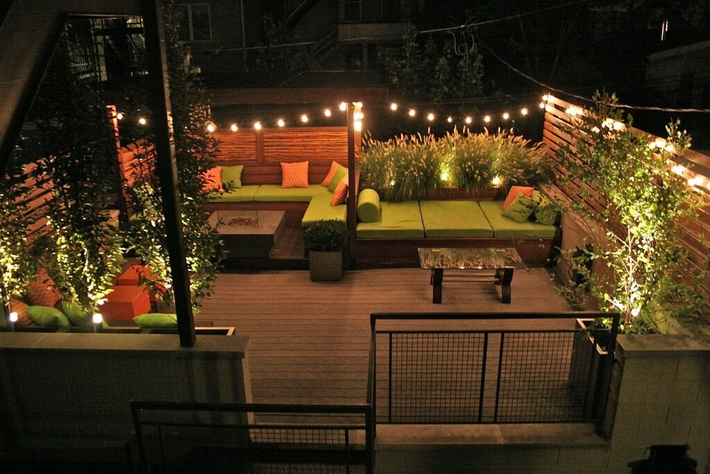 Image of: Rooftop Patio Ideas Lamps